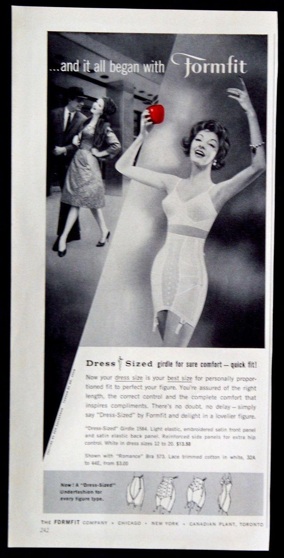 Formfit Dress-Sized Girdles - Oct 1958 Good Housekeeping Magazine