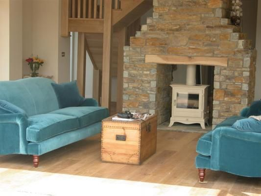 WOW the sofas and the wood burner. Tonga Luxury Holiday Home, Porthtowan. www.iknow-cornwall.co.uk