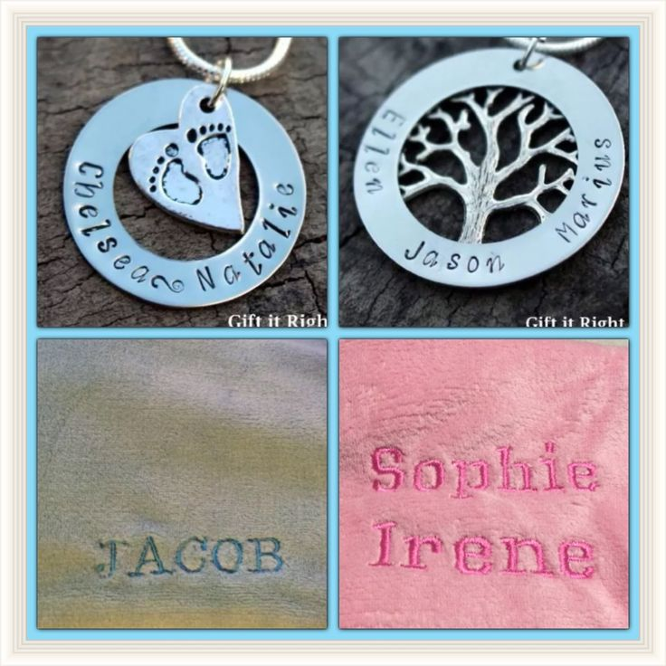 Personalised baby blanket and necklace - baby shower, new mother by Giftitright on Etsy