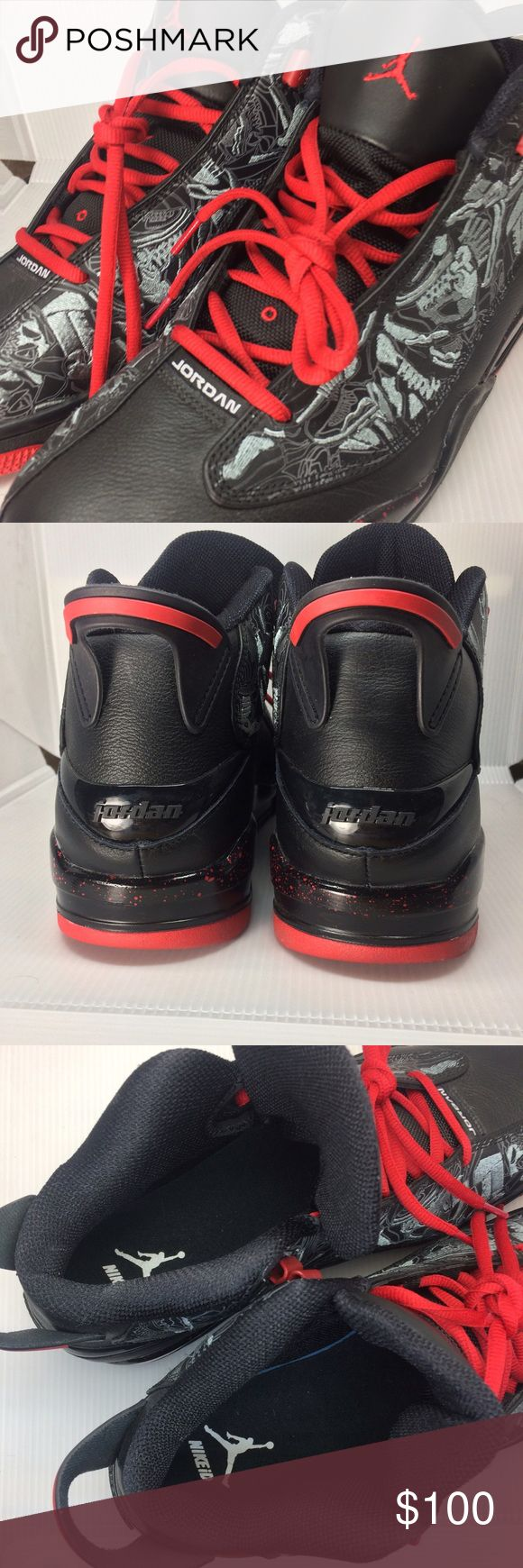 Nike ID unique basketball shoes Never worn, one of a kind Nike ID Jordan basketball shoes. No box. No trade. Paid $200+ Nike Shoes Sneakers