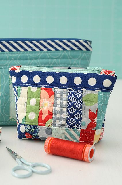 Rainy Day sewing bag by croskelley, via Flickr
