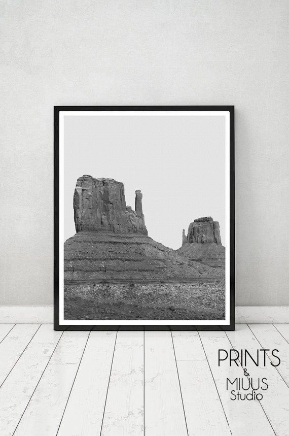 Photography Printable Art Desert Black and by PrintsMiuusStudio