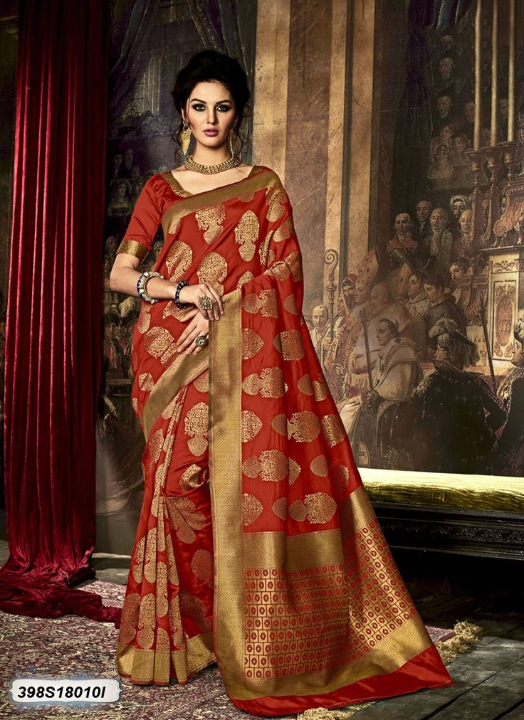 Buy Contemporary Orange Coloured Polyester Silk Saree Online at Satrani fashion Latest designer sarees online for women at best price. Shop Now!