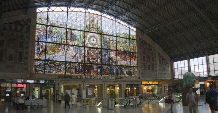 Bilbao:Estación de Abando con su vidriera. Jordi Payà (Flickr)