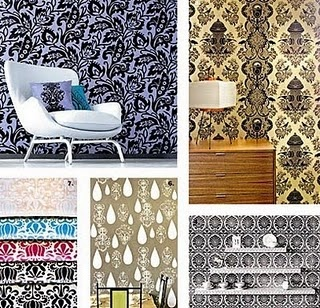 Starch + fabric = wallpaper - wanna do this in my room...need an update!!