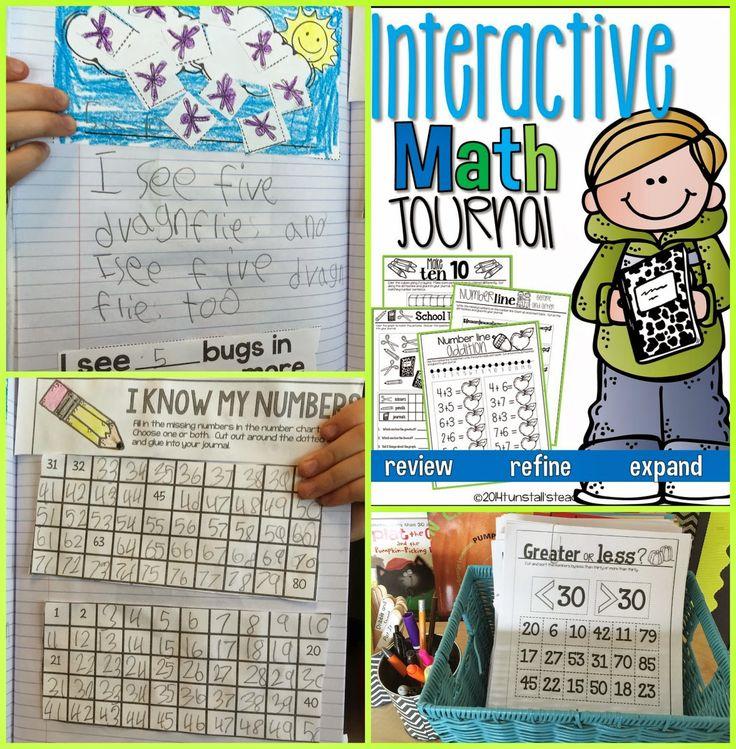 About Math Journals, freebie math journal, first grade math journal