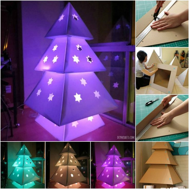 DIY Cardboard Christmas Tree - diyncrafts.com