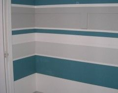 Striped wall a collection of home decor ideas to try for Painting horizontal stripes on walls tips
