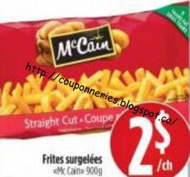 Coupons et Circulaires: 2$ Frites MCCAIN 900g