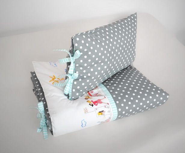 Cotton bedlinen for kids. Designed and made by Pracownia Lollipop. https://www.facebook.com/PALollipop