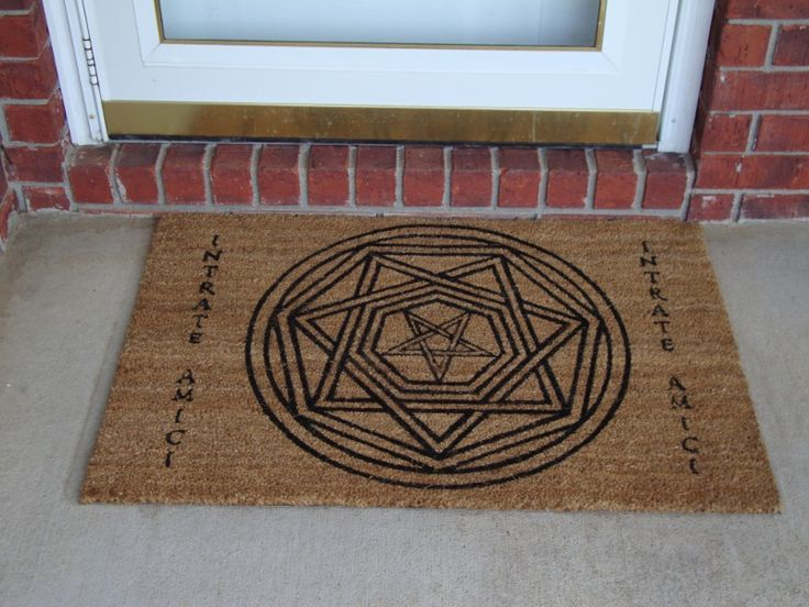 Devil S Trap Doormat Intrate Amici Enter Friend Yes I M Addicted Pinterest Supernatural And Winchester