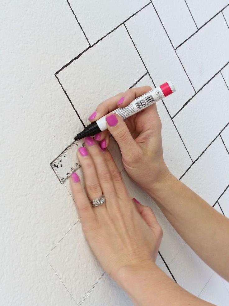 Best 20+ Painting Tile Backsplash Ideas On Pinterest   Painted Tiles, Painting  Tiles And Painting Tile Bathrooms
