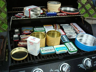 Grill tins to remove paint