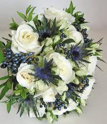 thistle wedding bouquet