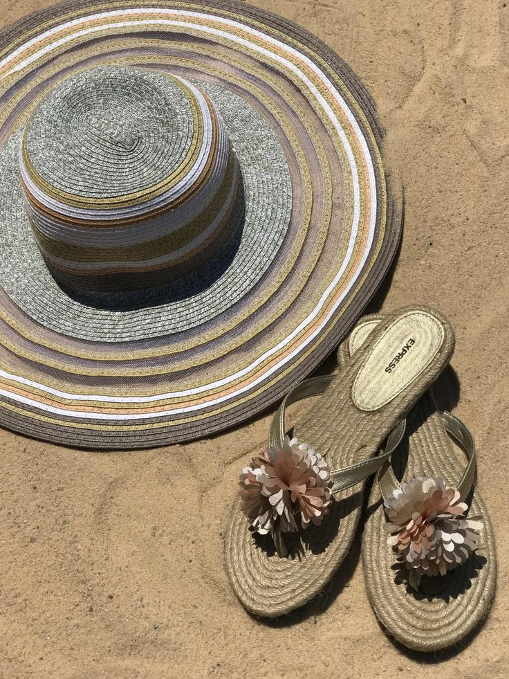 Life is better at the beach. Find summer essentials on GoodTwice.com today! (Shoes: Express, size 9, $12.99; Hat: BCBGeneration, $13.99)
