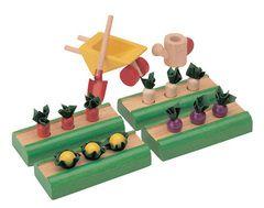 Овощные грядки Plan Toys, набор для кукольного дома - Plan Toys - купить в интернет-магазине Киндерама