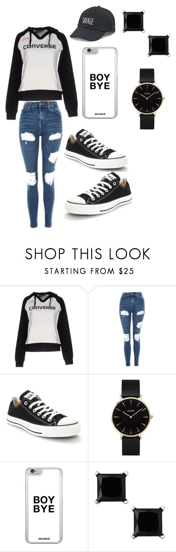 """Untitled #2"" by jj1650261 on Polyvore featuring Converse, Topshop, CLUSE and SO"
