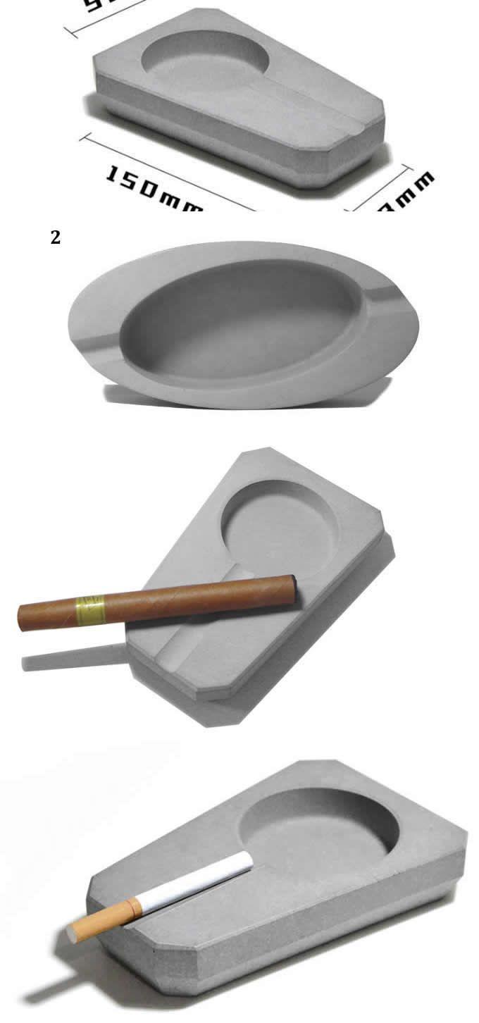 Handmade Art Concrete Cigar Cigarette Ashtray Ashtray Cigar