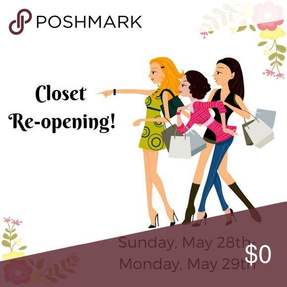Closet re-opens tomorrow! 2 day closet sale! Multiple Dresses