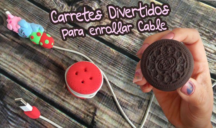 Carrete para enrollar cable de celular (Movil DIY) Foamy Moleable (Goma Eva) - YouTube