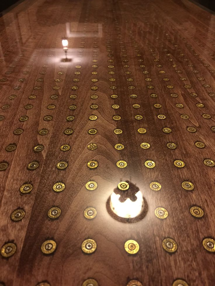 9mm bullet coffee table