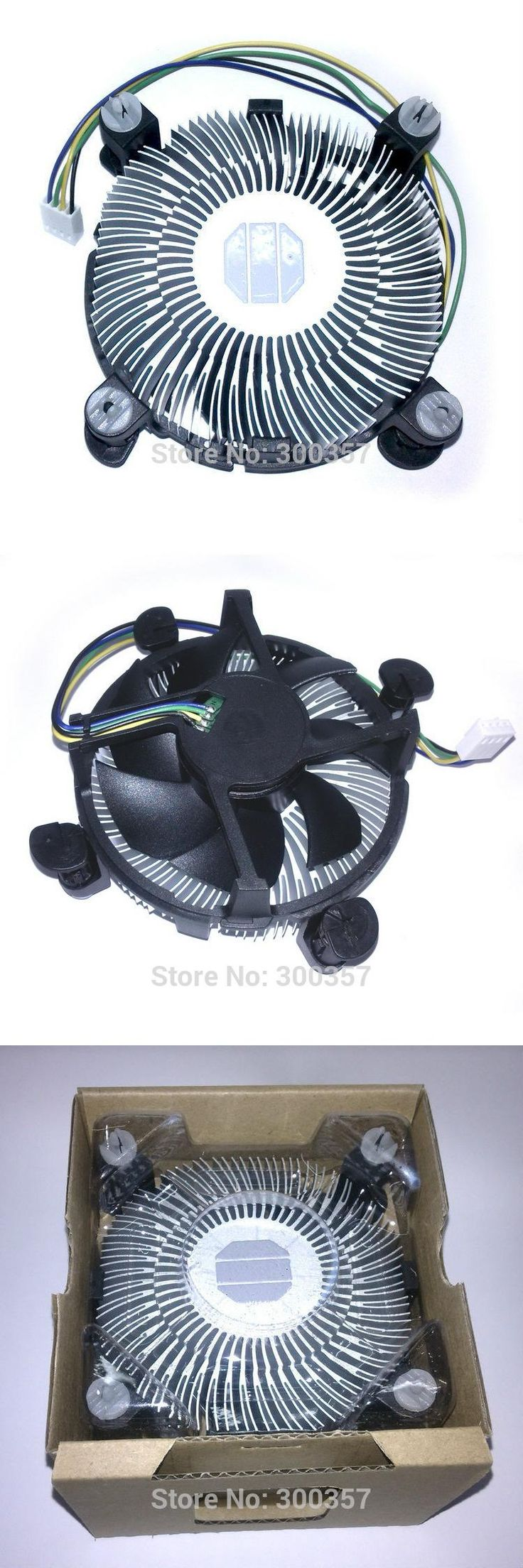 [Visit to Buy] 4 PinDesktop Computer PC Aluminum CPU Heatsink cheap Cooler Fan for LGA 775 or LGA1155/1156/1150 3type #Advertisement