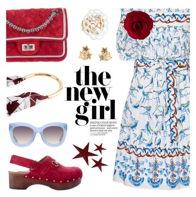 """New girls on the block"" by pensivepeacock ❤ liked on Polyvore featuring Peter Pilotto, Chanel, Gucci, Marni, Alice + Olivia and Diamond Star"