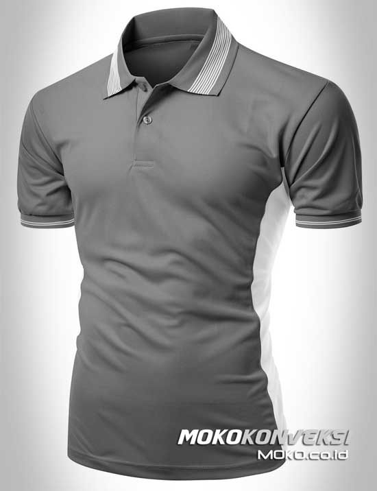 polo shirt custom konveksi semarang moko baju kombinasi warna abu