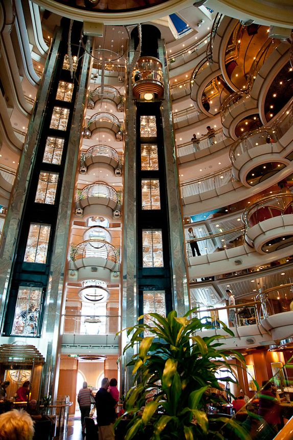 Elevator on Jewel of the Seas. Photo by timelessmemoriestravel.com. #royalcaribbean #cruising