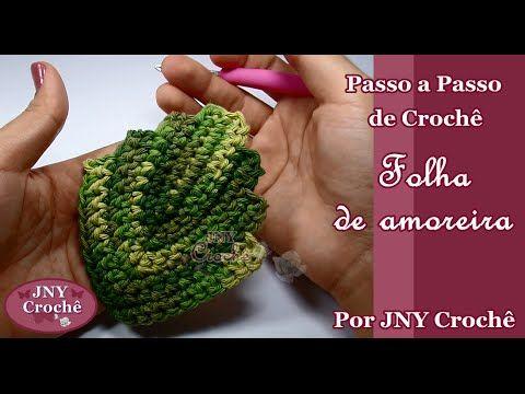 Passo a Passo de Crochê Folha de Amoreira por JNY Crochê