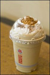 Burger King's Gingerbread Cookie Shake  See the difference
