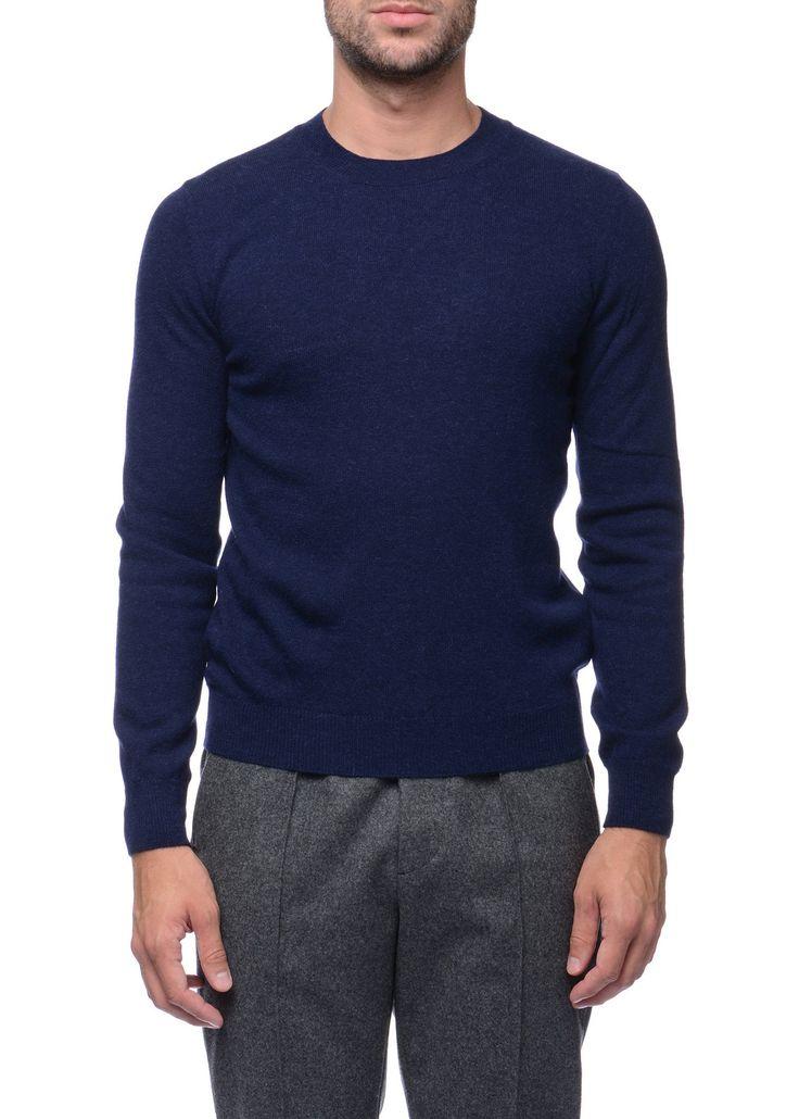 Federico Curradi - FW16- Menswear // Blue sweater in wool and alpaca