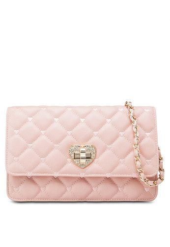 Sweet Heart Quilted Sling Bag