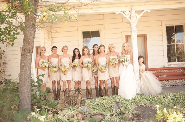 I like how the flower girl is leaning on the post - good for our front porch before wedding - with and without parasols!