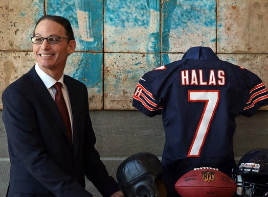 Marc Trestman poses after being introduced as the Chicago Bears' new head coach