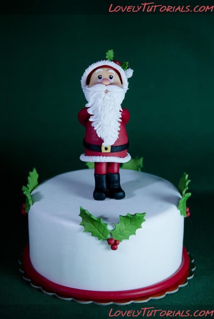 Cake Decorating Sculpting Figures : Gumpaste (fondant, polymer clay) Santa Claus figure ...
