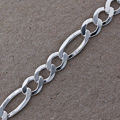Bransoletka srebrna splot typu Figaro.