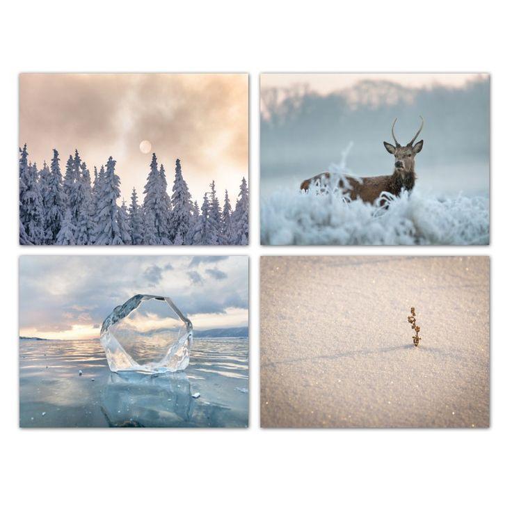 Zestaw zimowy czar, Obraz na płótnie - Canvas
