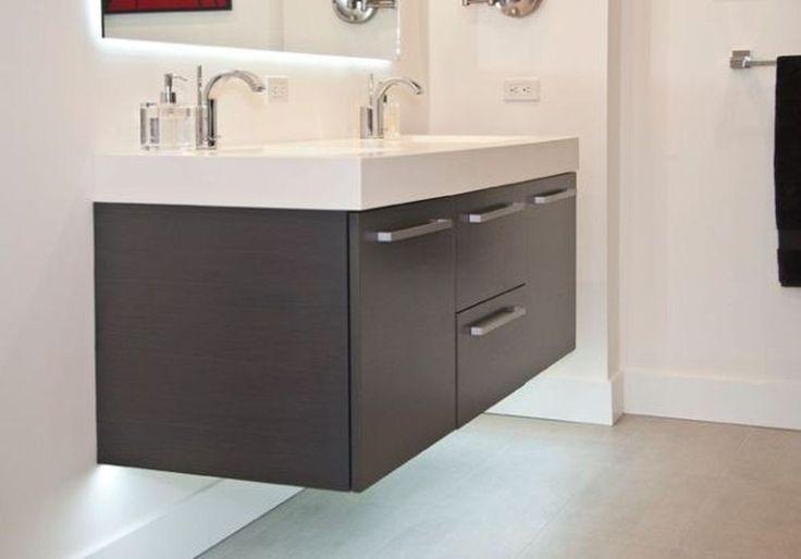 46 Brilliant Bathroom Sink Cabinet Designs Ideas