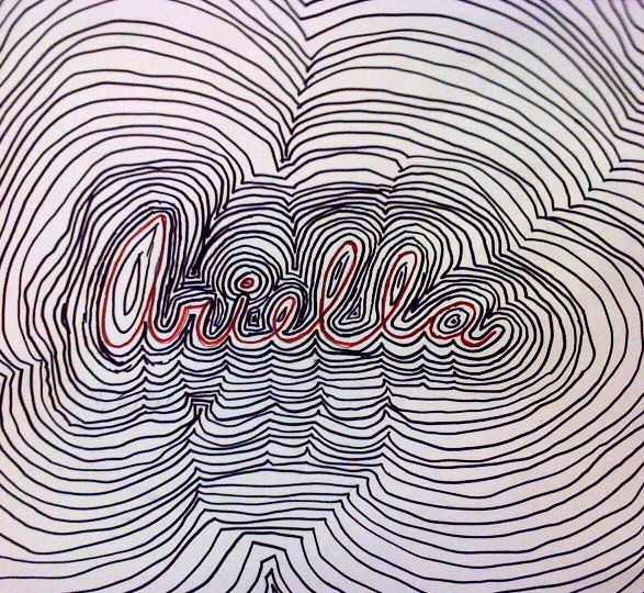 Name Design Art : Th op art name design contour line use paint for