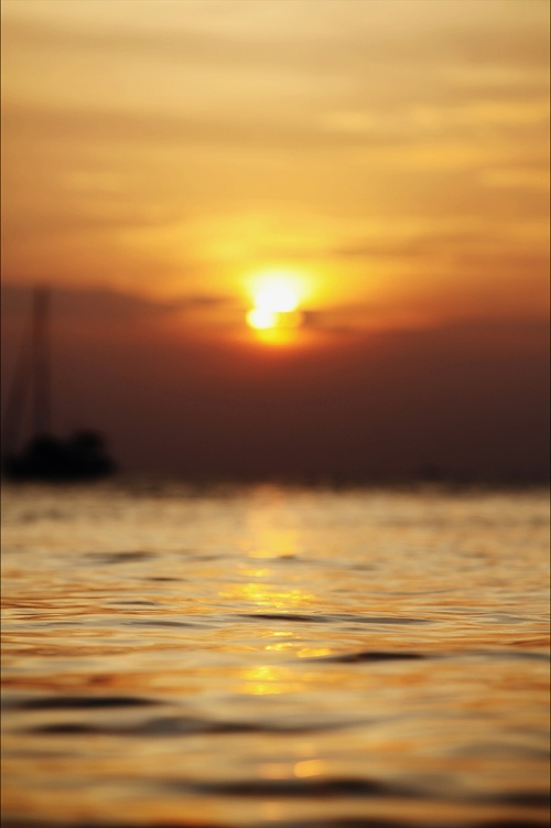Sunset in Kata Bay, Phuket Thailand