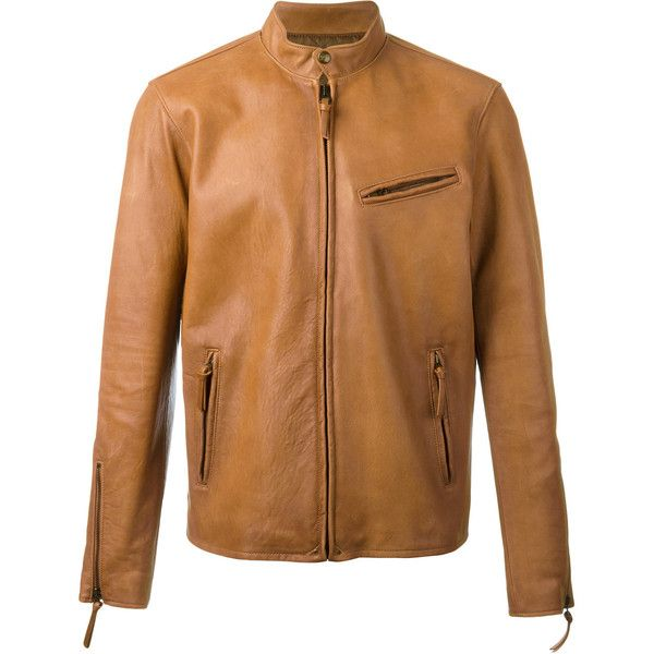 Polo Ralph Lauren Cafe Racer jacket (1,055 CAD) ❤ liked on Polyvore featuring men's fashion, men's clothing, men's outerwear, men's jackets, brown, mens brown jacket, mens real leather jackets, mens leather jackets and mens brown leather jacket