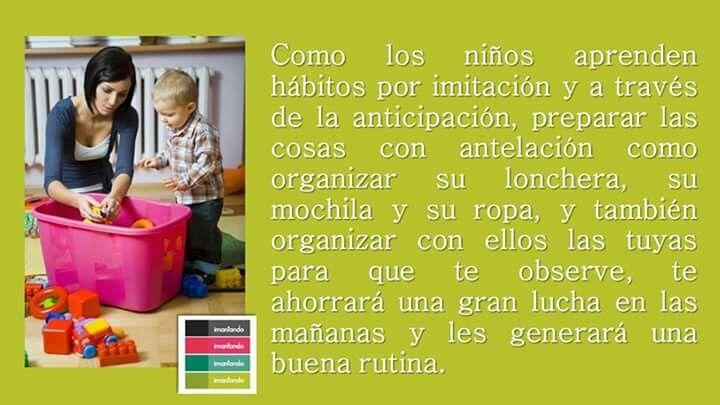 En Imantando es importante fomentar hábitos y rutinas saludables que ayuden en la crianza y en el desarrollo de los #niños. #tipsimantando