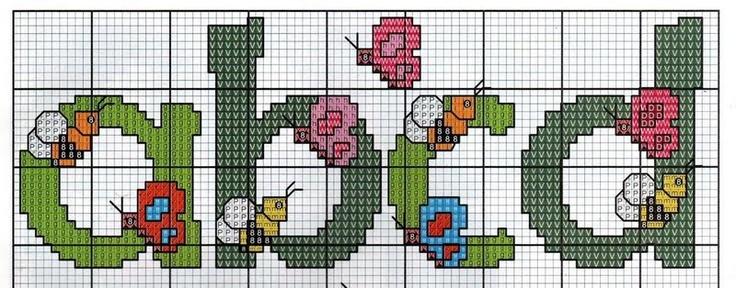 cross stitch alphabet PART 1