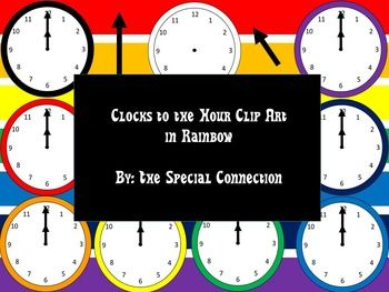 Best 25 blank clock ideas on pinterest clock template used clock to the hour clip art rainbow pronofoot35fo Image collections