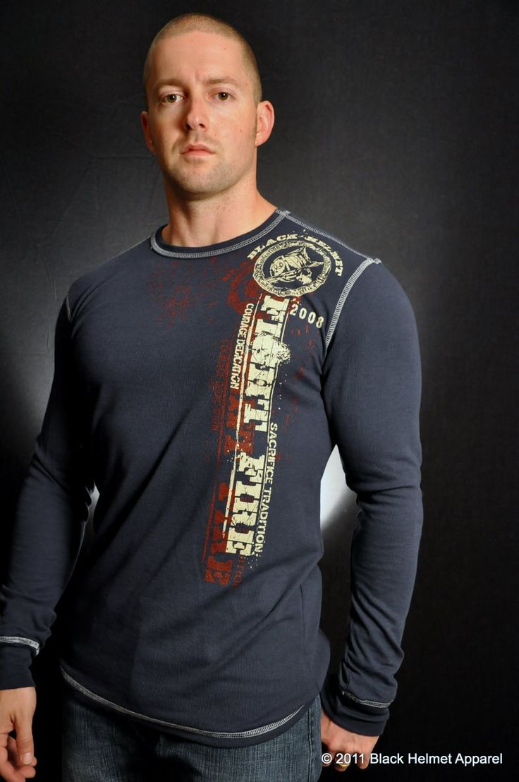 """Black Helmet Firefighter Apparel """"FD Firefighters"""" Thermal 