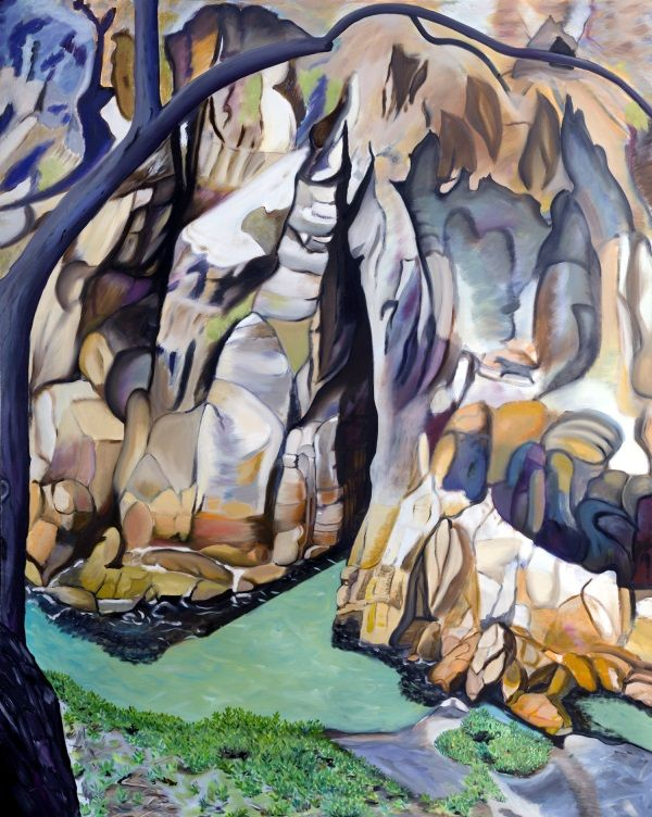 Stradbroke Is Gorge - Oil on Canvas 2012  Size: 5' x 4' by Lynda Leftwich