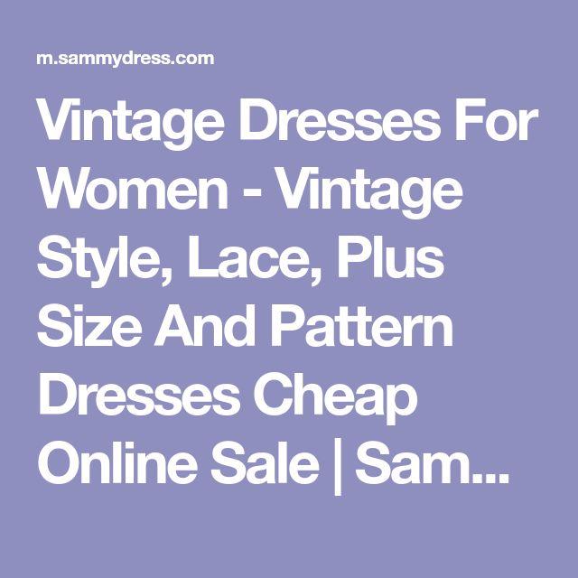 Vintage Dresses For Women - Vintage Style, Lace, Plus Size And Pattern Dresses Cheap Online Sale | Sammydress.com