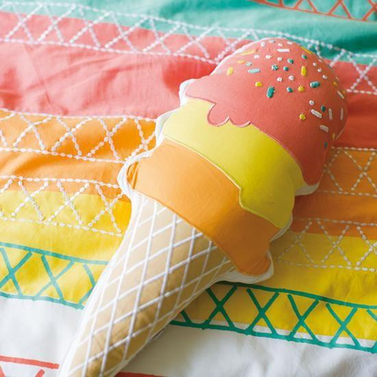 Ice Cream Throw Pillow | The Land of Nod