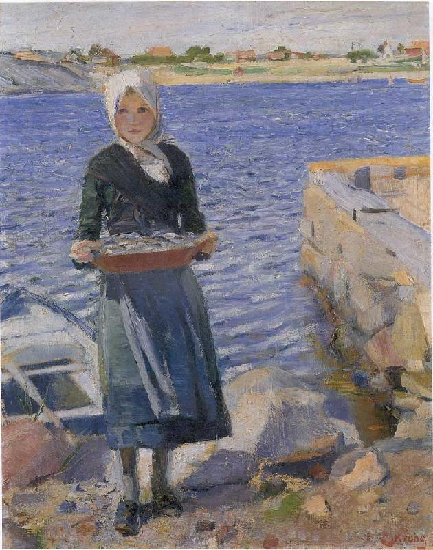 """Sunlight"", by Christian Krohg (Norwegian, 1852-1925)."